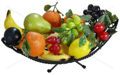 Obstschale  kuenstliches Obst