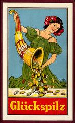 Fortuna mit Fuellhorn  Gesellschaftsspiel  1927