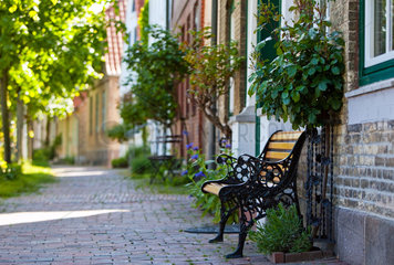 Arnis  Deutschland  Haeuser in der Altstadt