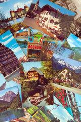 alte Urlaubskarten aus Deutschland  um 1965