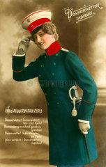 Frau in Uniform  Kaiserreich  1911