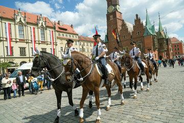Breslau  Polen  Begehung des Tags der Flagge
