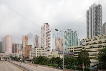 Hongkong  China  Wohntuerme in Tsuen Wan