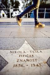 Walk of Fame-Stern von Nikola Tesla in Opatija