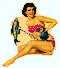 Pin-up-Girl  um 1952