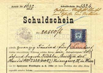 Schuldschein  Wien  1885