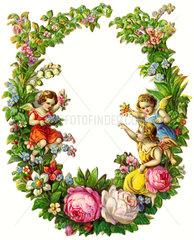 Blumenkranz  Dekoration  1897