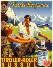 Werbung fuer Tiroler Adler Nussoel  1938