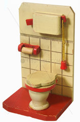 alte Toilette  Miniatur  fuer Puppenstube  um 1929