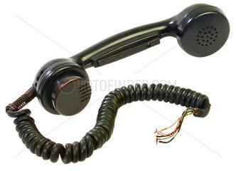 alter Telefonhoerer  Telefonschnur  um 1954