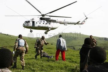 Monuc Soldaten und Friedenstruppe der UN