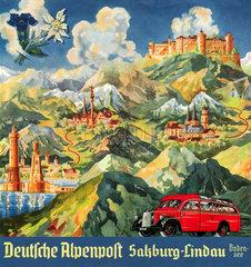 Deutsche Alpenpost  Busverkehr  1939