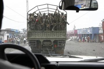 Soldaten der ruandischen Armee in Goma