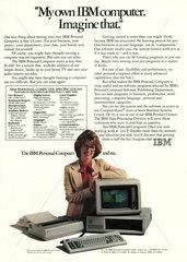 Zeitschriftenanzeige  erster IBM PC  1982