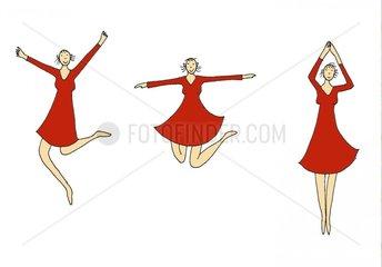 Freudentanz Tanzen Springen Froehlich