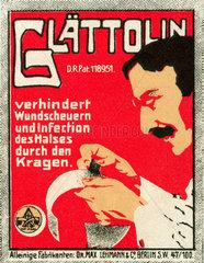 Glaettolin fuer Hemdkragen  Werbung  1912