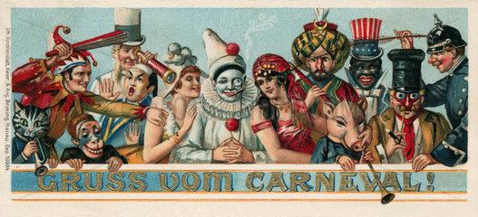 Gruss vom Karneval  1898