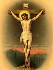 Jesus am Kreuz  um 1890