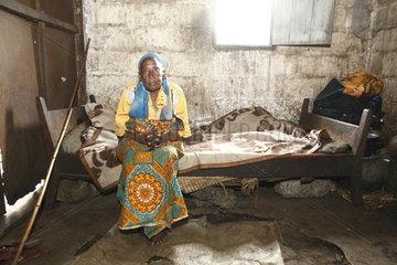 Verlassener Ort Jomba im Kriegsgebiet Goma