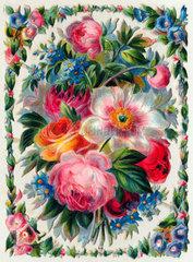 Blumen  Dekoration  1880