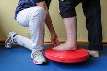 Physiotherapie - Gleichgewichtstraining