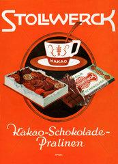 Werbung fuer Stollwerck Schokolade  1929
