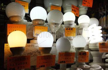 Hong Kong  China  Energiesparlampen