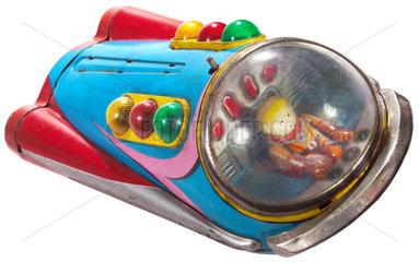 Raumschiff  Blechspielzeug  um 1965
