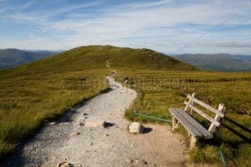 Fort William  Grossbritannien  ein Wanderweg auf dem Berg Aonach Mor