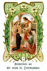 Andenken an die Erstkommunion  um 1907