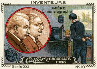 Erfinder Brueder Lumiere  Kinofilm  1914