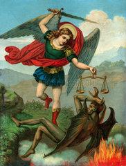 Erzengel Michael besiegt den Teufel  um 1890