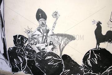 Neapel garbage street art