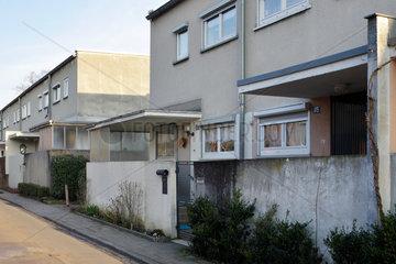 Frankfurt  Deutschland  Reihenhaeuser in der Siedlung Roemerstadt
