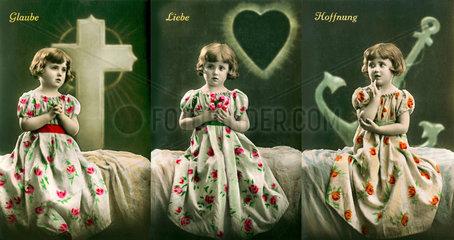 Glaube  Liebe  Hoffnung  christliche Tugenden  um 1926