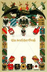 Wappentafel Deutsches Kaiserreich  um 1899