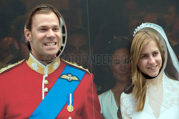 London  Grossbritannien  Touristen an einer Fotowand