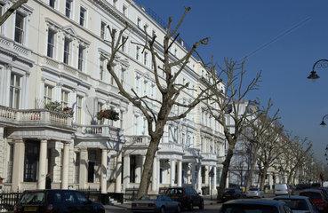London  Grossbritannien  grossbuergerliche Haeuser in Queens Gate Gardens in Kensington