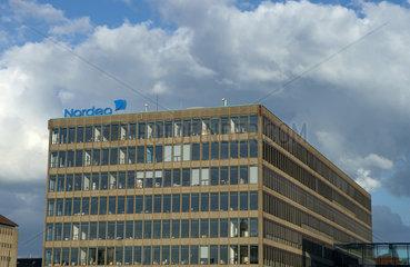 Kopenhagen  Daenemark  die Zentrale des schwedischen Finanzkonzerns Nordea