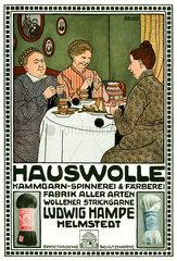 Werbung fuer Wolle  um 1914