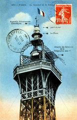 Eiffelturm  Turmspitze  1913
