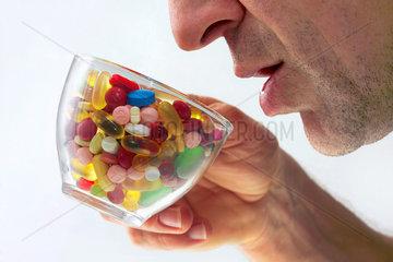 Ueberdosis Pillen  Symbol