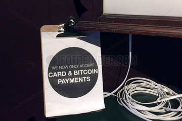 No Cash  only Card and Bitcoin