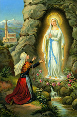 Marienerscheinung Lourdes  1858