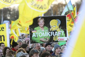 Splietau  Deutschland  Protestkundgebung gegen den Castortransport nach Gorleben