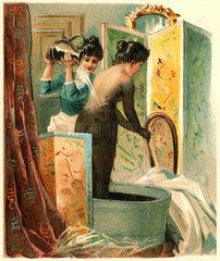 Frau im Moorbad  Bad Kissingen  1899