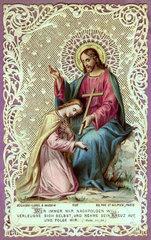 Jesus Christus  Heiligenbildchen