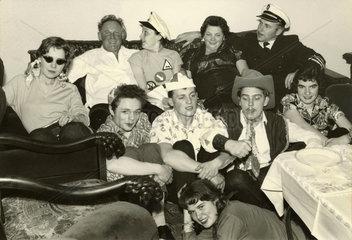 private Faschingsfeier  1957