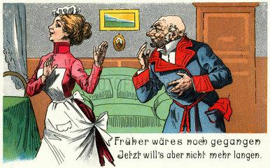 Karikatur Schuerzenjaeger  1903