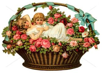 Blumenkorb  um 1885
